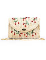 cherry pattern bag