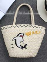 dolphin pattern bag