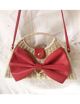 Ribbon bowknot shape shoulder bag