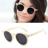 Retro v paragraph sunglasses round frame
