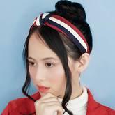 Striped Knit Retro Knotted Headband