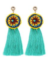 round shape tassel earrings