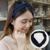 Korean new creative hair accessories autumn and winter knit solid