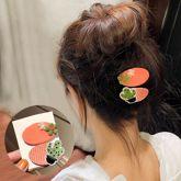 Korea small fresh fabric hairpin two-piece cartoon animal flower fruit creative simple