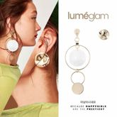 Haoli Jewelry Shell Geometric Round Alloy Stud Earrings Europe and America