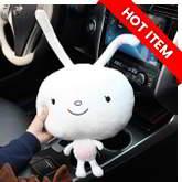 Rabbit shape car headrest DOTS Descendants of the sun