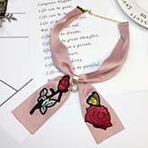 Rose Scarf Metal Chain Buckle Pearl