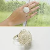 White  Taraxacum Shape alloy Korean Rings