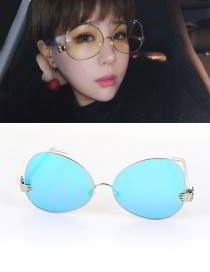 Forever21 pearl round frame simple glasses