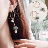 South Korean Pompom Pearl Round Earrings